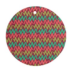 Abstract Seamless Abstract Background Pattern Round Ornament (two Sides)