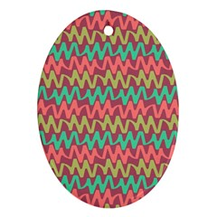 Abstract Seamless Abstract Background Pattern Oval Ornament (Two Sides)