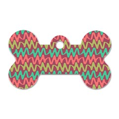 Abstract Seamless Abstract Background Pattern Dog Tag Bone (two Sides)