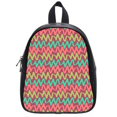 Abstract Seamless Abstract Background Pattern School Bags (small)
