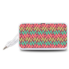 Abstract Seamless Abstract Background Pattern Portable Speaker (white)