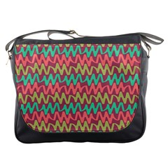 Abstract Seamless Abstract Background Pattern Messenger Bags