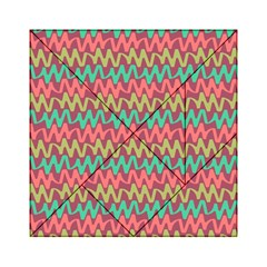 Abstract Seamless Abstract Background Pattern Acrylic Tangram Puzzle (6  x 6 )