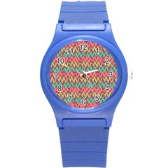 Abstract Seamless Abstract Background Pattern Round Plastic Sport Watch (S)