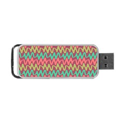 Abstract Seamless Abstract Background Pattern Portable USB Flash (One Side)