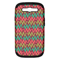 Abstract Seamless Abstract Background Pattern Samsung Galaxy S III Hardshell Case (PC+Silicone)