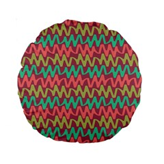 Abstract Seamless Abstract Background Pattern Standard 15  Premium Round Cushions