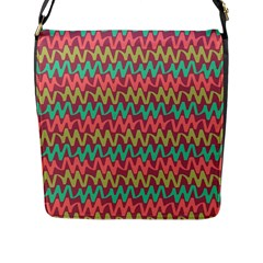 Abstract Seamless Abstract Background Pattern Flap Messenger Bag (L)