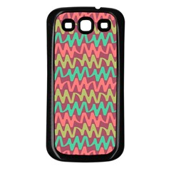 Abstract Seamless Abstract Background Pattern Samsung Galaxy S3 Back Case (Black)