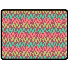 Abstract Seamless Abstract Background Pattern Double Sided Fleece Blanket (Large)