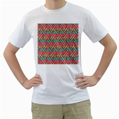 Abstract Seamless Abstract Background Pattern Men s T Shirt (white)