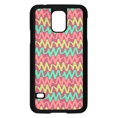 Abstract Seamless Abstract Background Pattern Samsung Galaxy S5 Case (Black)