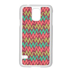 Abstract Seamless Abstract Background Pattern Samsung Galaxy S5 Case (White)