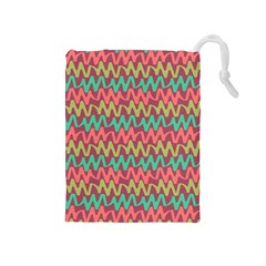 Abstract Seamless Abstract Background Pattern Drawstring Pouches (Medium)