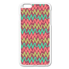 Abstract Seamless Abstract Background Pattern Apple iPhone 6 Plus/6S Plus Enamel White Case