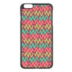 Abstract Seamless Abstract Background Pattern Apple iPhone 6 Plus/6S Plus Black Enamel Case