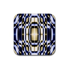 Colorful Seamless Pattern Vibrant Pattern Rubber Square Coaster (4 Pack)