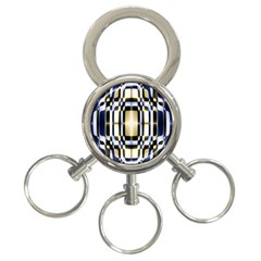 Colorful Seamless Pattern Vibrant Pattern 3 Ring Key Chains