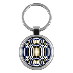 Colorful Seamless Pattern Vibrant Pattern Key Chains (Round)