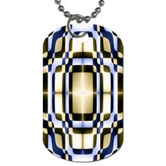 Colorful Seamless Pattern Vibrant Pattern Dog Tag (Two Sides)