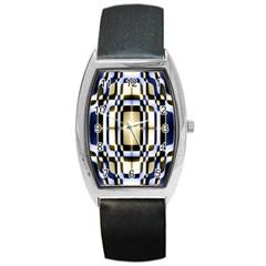 Colorful Seamless Pattern Vibrant Pattern Barrel Style Metal Watch