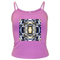 Colorful Seamless Pattern Vibrant Pattern Dark Spaghetti Tank