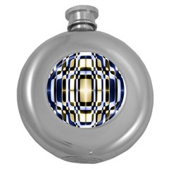 Colorful Seamless Pattern Vibrant Pattern Round Hip Flask (5 oz)