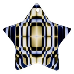 Colorful Seamless Pattern Vibrant Pattern Star Ornament (two Sides)