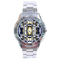 Colorful Seamless Pattern Vibrant Pattern Stainless Steel Analogue Watch