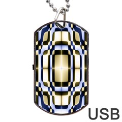 Colorful Seamless Pattern Vibrant Pattern Dog Tag USB Flash (Two Sides)