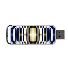 Colorful Seamless Pattern Vibrant Pattern Portable USB Flash (One Side)