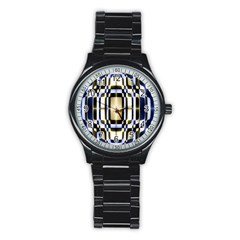 Colorful Seamless Pattern Vibrant Pattern Stainless Steel Round Watch