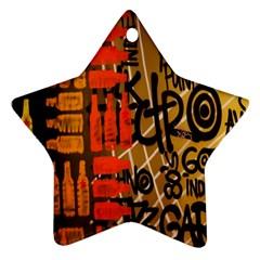 Graffiti Bottle Art Ornament (Star)