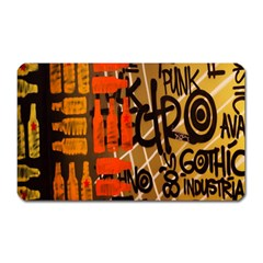 Graffiti Bottle Art Magnet (Rectangular)