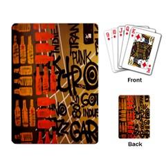 Graffiti Bottle Art Playing Card