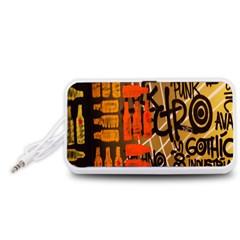 Graffiti Bottle Art Portable Speaker (White)