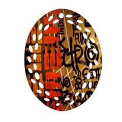Graffiti Bottle Art Oval Filigree Ornament (Two Sides)