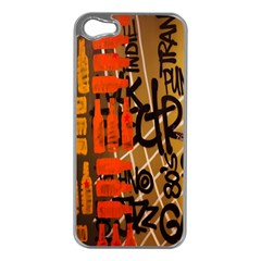Graffiti Bottle Art Apple Iphone 5 Case (silver)