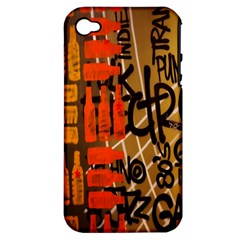 Graffiti Bottle Art Apple Iphone 4/4s Hardshell Case (pc+silicone)