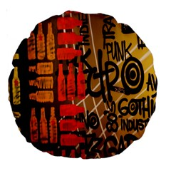 Graffiti Bottle Art Large 18  Premium Round Cushions