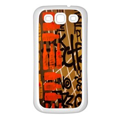 Graffiti Bottle Art Samsung Galaxy S3 Back Case (White)