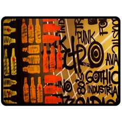 Graffiti Bottle Art Double Sided Fleece Blanket (large)
