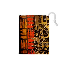 Graffiti Bottle Art Drawstring Pouches (small)
