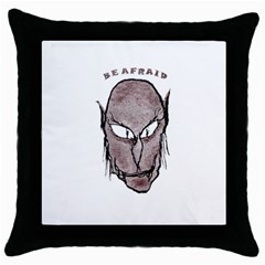 Scary Vampire Drawing Throw Pillow Case (Black)