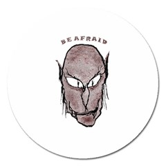 Scary Vampire Drawing Magnet 5  (Round)