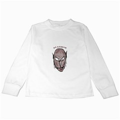 Scary Vampire Drawing Kids Long Sleeve T-Shirts