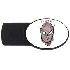 Scary Vampire Drawing USB Flash Drive Oval (4 GB)