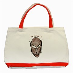 Scary Vampire Drawing Classic Tote Bag (Red)