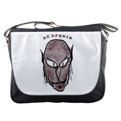 Scary Vampire Drawing Messenger Bags
