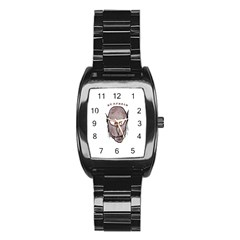 Scary Vampire Drawing Stainless Steel Barrel Watch
